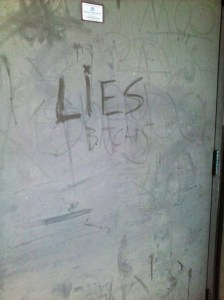found graffiti (lies)