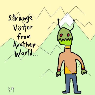 strange visitor from another world