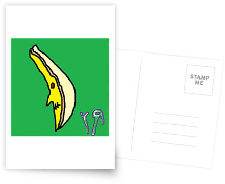 evil banana postcard