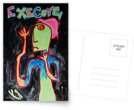 execute postcard