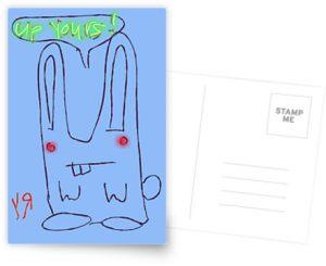 happy bunny postcard