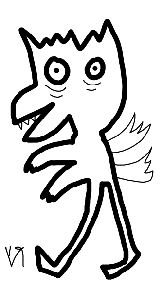 weird bird (with arms AND wings)