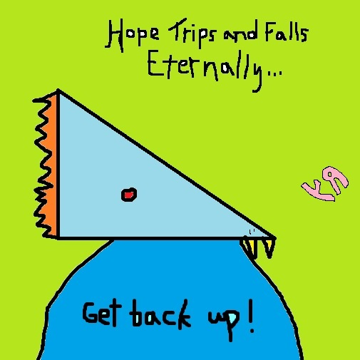 hope trips and falls