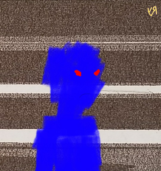 blue shadow person (29 oct. 2017) by rfy - (peg)