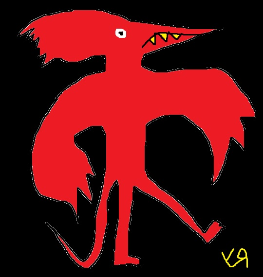 red lizard bird