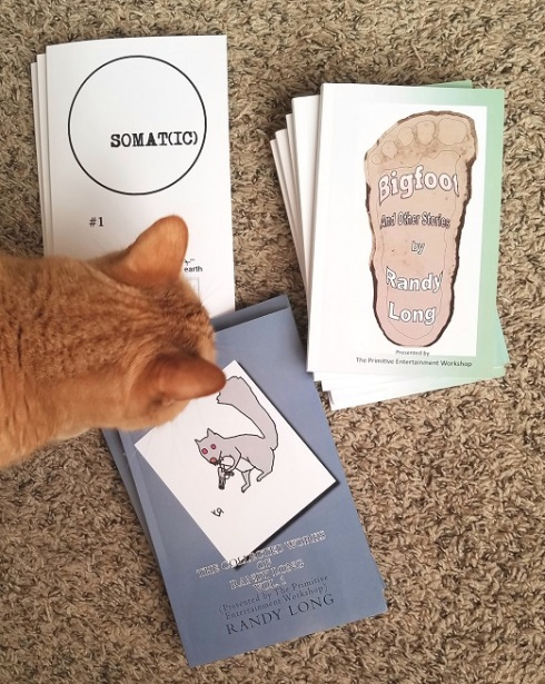 books for longcon (plus cat) - (peg)
