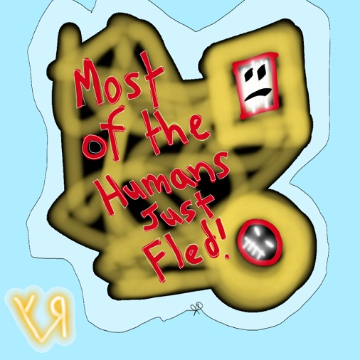 most of the humans just fled (9 apr. 2018) by rfy - (peg)
