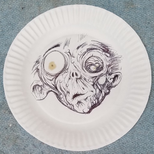 untitled paper plate art by michael king - (peg)