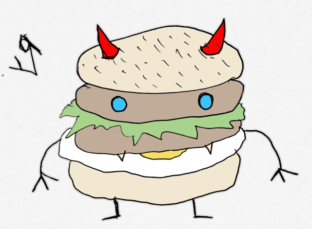 devil burger (18 may 2018) by rfy - (peg)