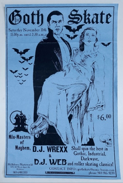 goth skate (vintage show poster) by mike king - (peg)