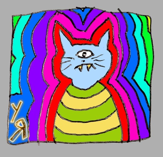 psychedelicat (22 may 2018) by rfy - (peg)