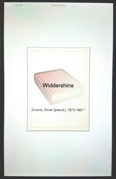 widdershins (1911) - (peg)