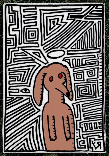 st. weiner dog in the maze (10 jul. 2018) by rfy - (peg)