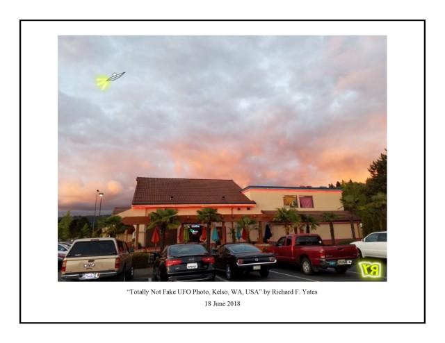 Totally Not Fake UFO Photo