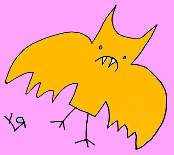 orange bat (14 aug. 2018) by rfy - (peg)