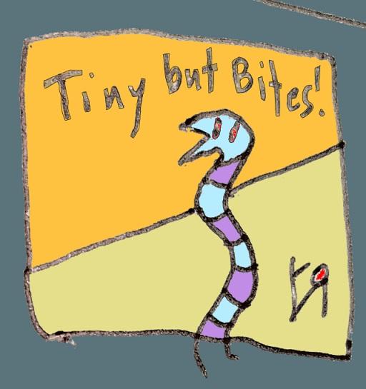 tiny but bites (31 aug. 2018) by rfy - (peg)