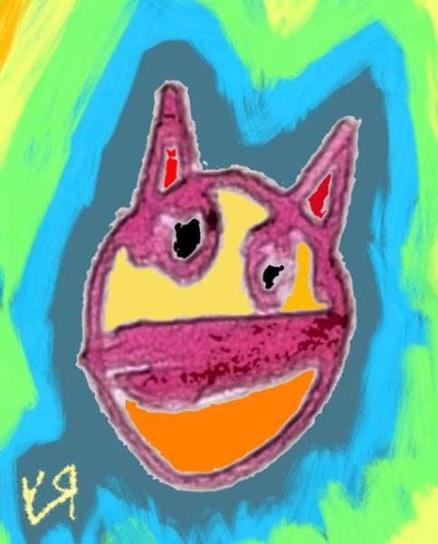 evil cat mask (3 sep. 2018) by rfy - (peg)