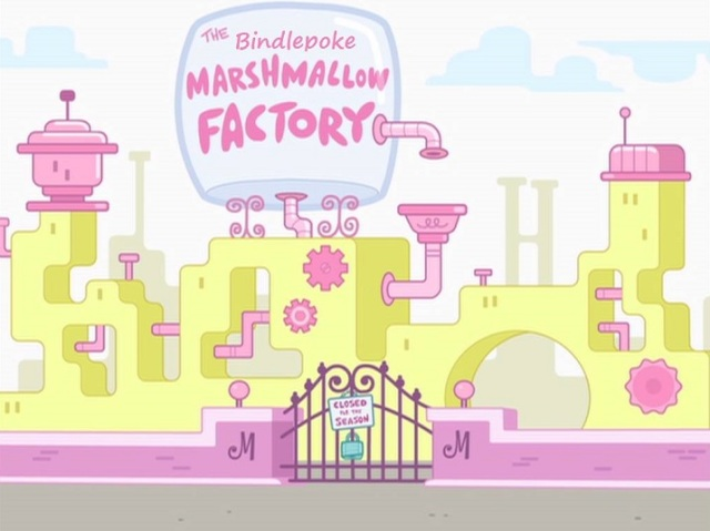 the bindlepoke marshmallow factory by mark counts