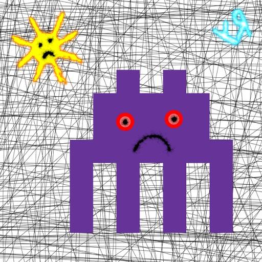 four legged purple plastic creature... (24 oct. 2018) by rfy - (peg)