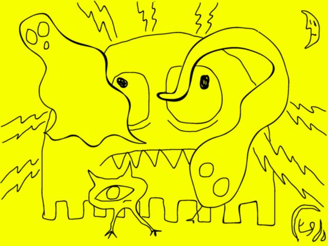 dada 8 - creatures of night (in yellow)