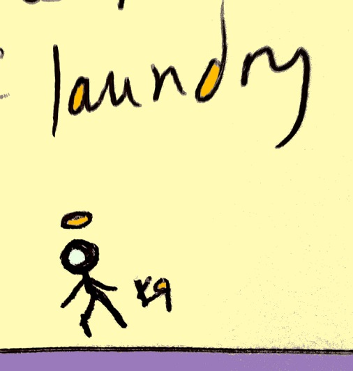 i am now the saint of laundry (20 nov. 2018) by rfy - (peg)